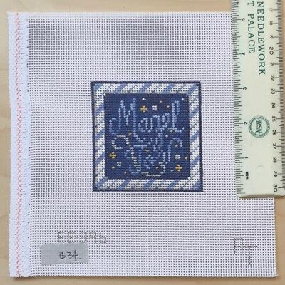 Hand painted Needlepoint Canvas Associated Talents Mazel Tov midi square