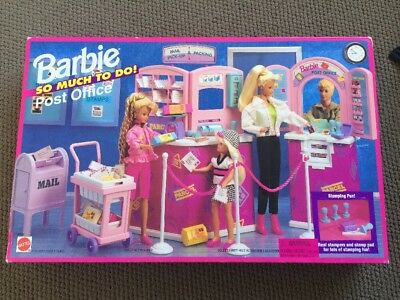 1995 Vintage Barbie Mattel So Much To Do Post Office Set Brand New
