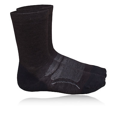 Teko Organic SIN3RGI Light Mens Black Walking Hiking Socks Socklet 2 Pack