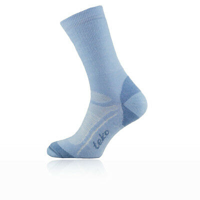 Teko Organic SIN3RGI Midweight Womens Blue Walking Hiking Long Socks