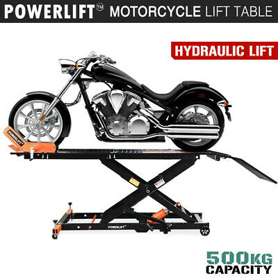Motorcycle Lift Table - Hydraulic - Bike Jack Mechanic Stand Hoist Lifter