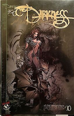 Witchblade #10 Limited Gold Variant Cover Signed By Michael Turner