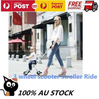 Baby-3 wheel scooter stroller Ride On Tricycle Adjustable Hight