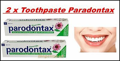 Toothpaste Paradontax  2 x 75ml  Fresh Fluoride Bleeding Gum Teeth ORIG. GERMANY