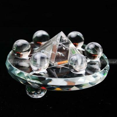 AAAA++1 Set Seven Star Array Natural Star White Quartz Crystal Ball With Plate