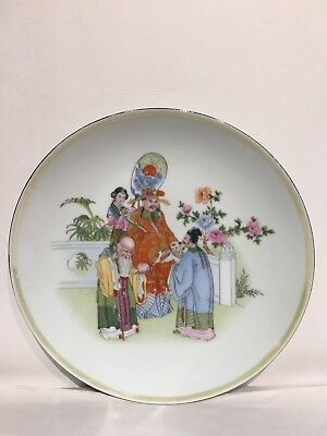 Chinese Vintage Hand Painted Plate Immortals Character Excellent Condition 8.5