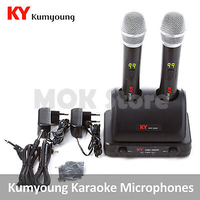 Kumyoung KY Home Party Portable Karaoke Wireless Microphone KMC-3000 2Mic