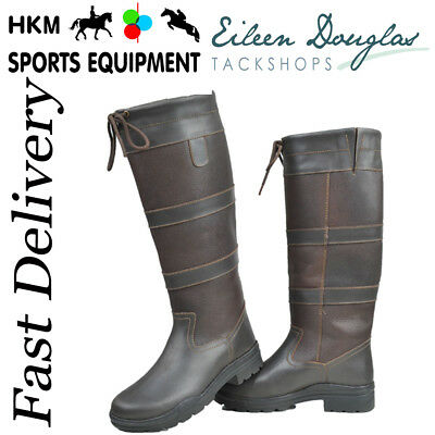 HKM BELMOND WINTER BOOT FUR LINED Oiled Leather Country Horse Riding Yard Boots