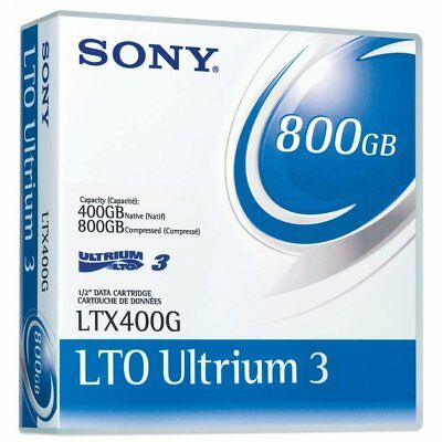 Sony LTX400G Ultrium 3Gen LTO-3 400GB 800GB Tape Cartridge BackUp Data Memory