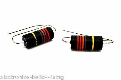 2x EMERSON CUSTOM GUITAR BUMBLEBEE 0.022UF .022UF 300V PAPER IN OIL CAPACITOR
