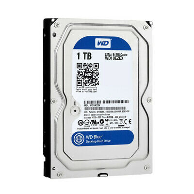 "Western Digital 1TB 3.5"""" SATA III HDD 7200rpm WD Blue Internal Desktop Drive"