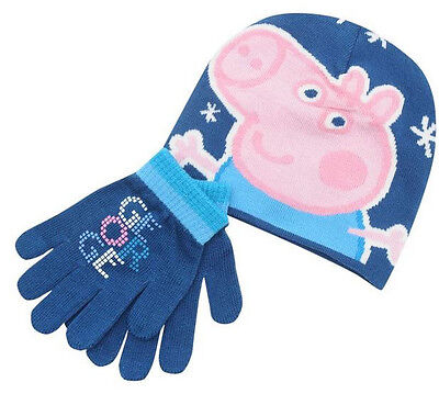 Bnwt Infants Character Two Piece Knit Gloves And Hat Set