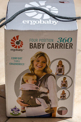 Ergobaby 360 Carrier 4 Position Ergo Baby in TAUPE and LILAC color. New in box.