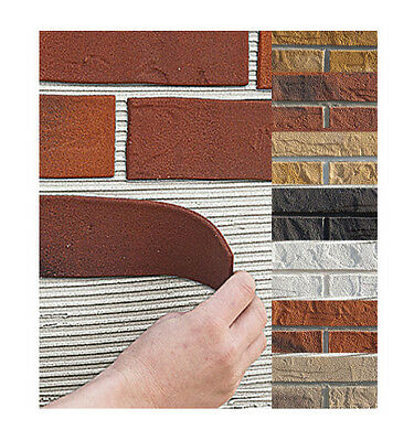 BRICK SLIPS Cladding Wall TILES Flexible | 8 colors