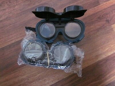 """""""2 pair"""" Welding, Cutting, Ameriflame by Uniweld  Safety Goggles Flip Up! """"New"""""""