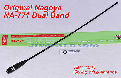 Newest Version! Nagoya NA-771 Dual-Band Spring Whip Antenna SMA-Male Yaesu Radio