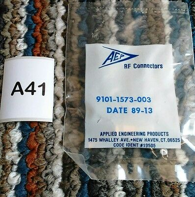 Aep Rf Connector #9101-1573-003, New Small Coax. Gold Pins?