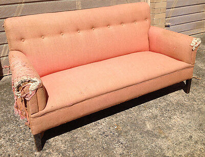 Antique Lounge Sofa Couch, needs full reupholstering