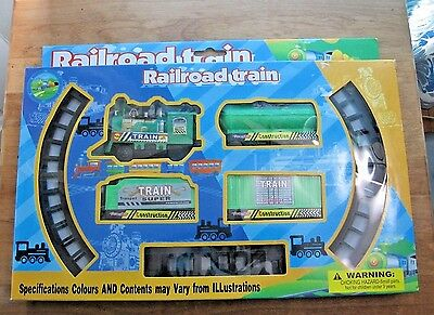 Railroad Train Set ~ NIP ~ SEALED ~ Toy for Children Ages 3+