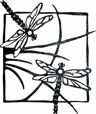 DXF CNC dxf for Plasma Router Clip Art Dragonfly Grass Man Cave Wall Art