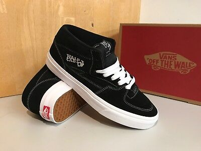 Vans Half Cap Black White 105 US 44 vdz3blk Old Skool sk8hi Lite AUTHENTIC