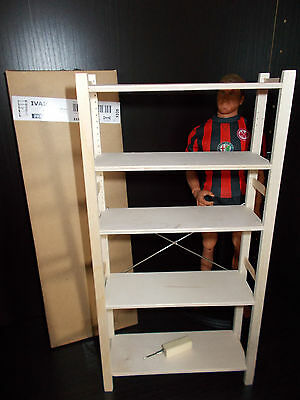 1 6 ivar ikea 12 regal shelves rack miniature for action figures dolls eur 29 99. Black Bedroom Furniture Sets. Home Design Ideas