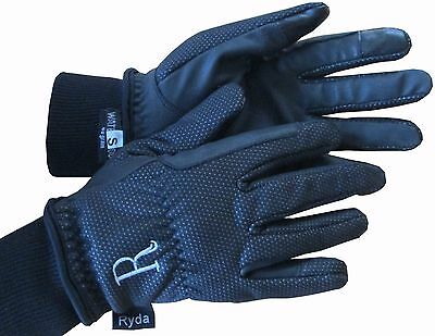 Ryda Ladies Winter Horse Riding Gloves Thermal Thinsulate Windproof + Waterproof