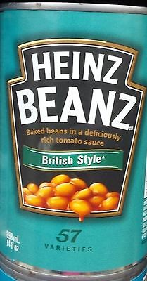 6 Cans Heinz British Style Baked Beans in Tomato Sauce 398ml - Canada Made
