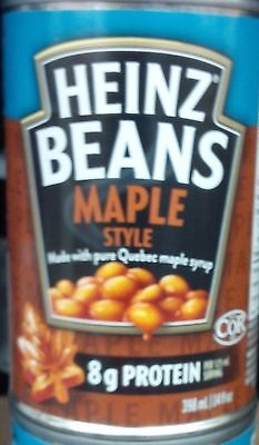 6 Cans Heinz Maple Style Beans with Pure Quebec Maple Syrup 398ml - Canada Made