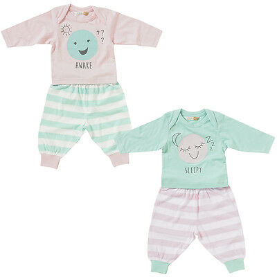 a90cbc865 LULLABY BABY GIRLS Cute Floral Teddy Long Sleeve Cotton Pyjamas Pink ...