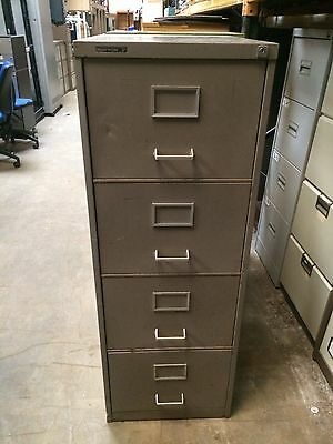 Vintage Retro Grey 4 Drawer Filing Storage Cabinet