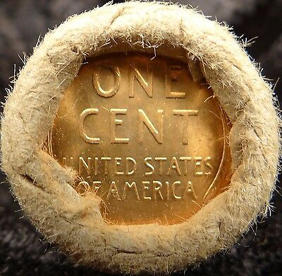 BU Bank HALF Collector Roll of Original Uncirculated Wheat Cent Pennies