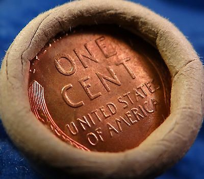 BU Bank Roll Mystery Collector Coins of Original Uncirculated Wheat Cent Pennies