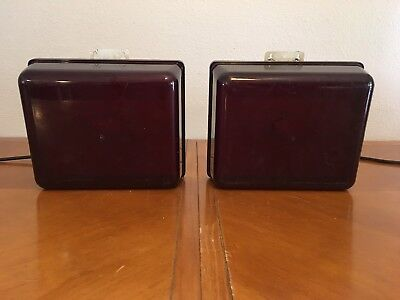 2 Vintage NuArc Darkroom Safelights Model DLB 1012 Tested Working
