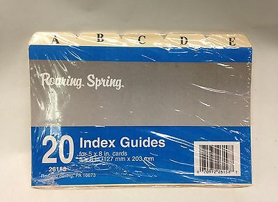 20 Index Guides For 5X8 Cards