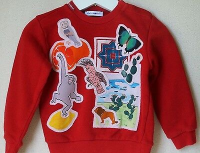 Dolce And Gabbana Baby Red Sweater 12-18 Months