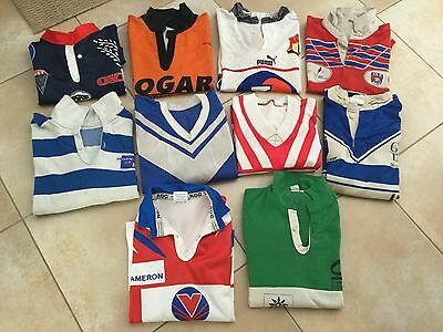 Collection 12 Maillots Rugby Worn Jersey Vintage