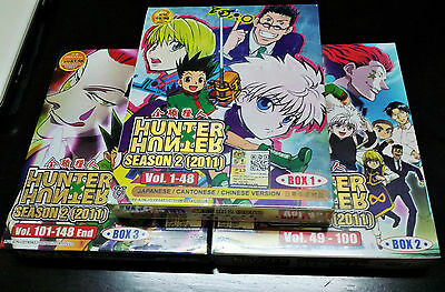 Hunter x Hunter (2011) Complete Series DVD Episode 1 - 148 Anime Box Eng Subs