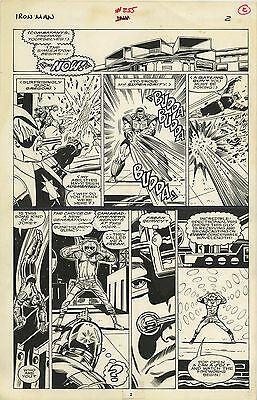 Original Comic Art Page Marvel Iron Man Issue 255 Pg 2 Crimson Dynamo Devestator
