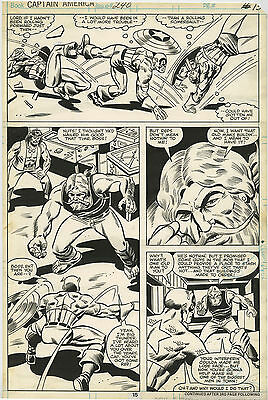 Original Comic Art Bronze Age Marvel Comics Captain America Issue 240 Page 15
