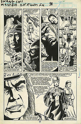 Original Comic Art Marvel Comics Master of Kung Fu Bleeding Black Page 58