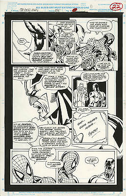 Original Comic Art Marvel Comics Spider-Man Issue 25 Page 22 Captain Britain