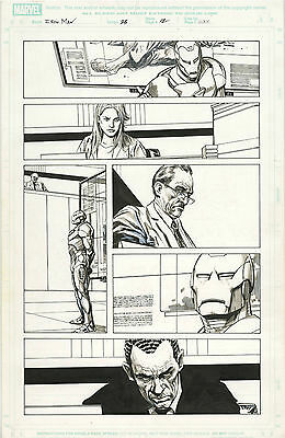 Original Comic Art Marvel Comics Invincible Iron Man Issue 23 Page 12