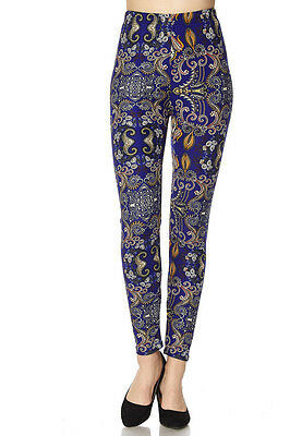 Leggings TC/203 Buttery Soft Always Brushed Purple w/Print PLUS SIZE