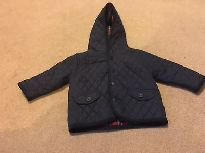 Next Light Weight Quilted Jacket  0-3 Months Washable