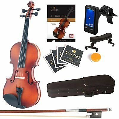 ADM 4/4 Full Size Handcrafted Solid Wood Student Acoustic Violin Starter Kits