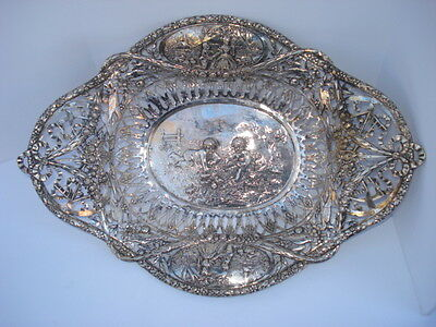 "19th Century German Silver Pierce Work  Basket "" Display Silver "" Hallmarked"