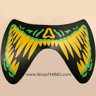 Sound Activated EL Mask, Ninja THING Mask, Light Up Mask, Green Fangs  SEE VIDEO