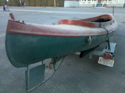 RARE 1919 © E.M. White inboard motor canoe 20' water taxi  Old Town Maine