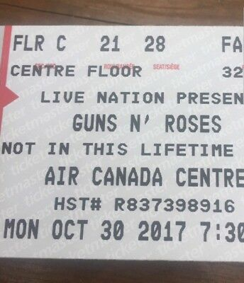 Guns And Roses Toronto Oct 30th Tickets $350 a ticket